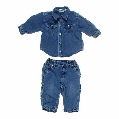 Old Navy Baby Boys Shirt & Jeans Set, size 6 mo,  blue/navy,  cotton
