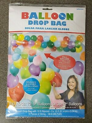 Balloon Drop Bag Party Decor Holds 70-150 Balloons NEW