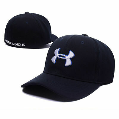New Under Armour Branded Baseball Cap Men/Women fitted cap Dad Hat/Navy blue