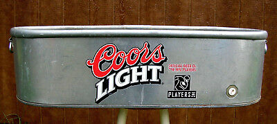 Rare  X-Large  Coors  Light  Beer / Nfl  Ice  Bucket  Tub -  Party  Trough