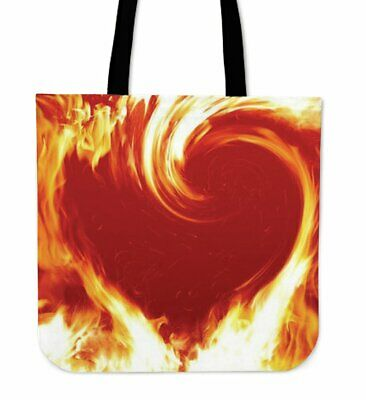 Heart Fire Tote Bag