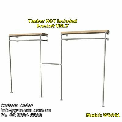 Industrial Pipe Commercial Shop Business Shelving Clothing Garment Rack Brackets