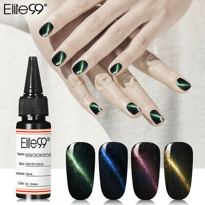 Elite99 Ojo de gato Capa superior Esmalte de Uñas Soak Off UV LED Art Salón 30ML