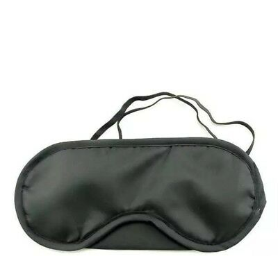 Black Travel Eye Mask, Sleep Sleeping Cover Rest Eyepatch Blindfold