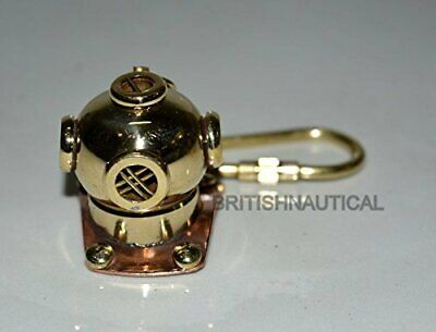 New Brass Divers Helmet Keychain Nautical Maritime Yatching Diving Keyring Nice