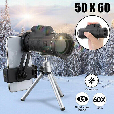 Super Clear 50x60 Monocular Telescope Dual Focus Optics Zoom For Mobile Phones