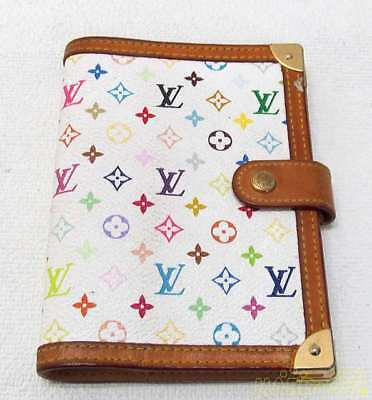 LOUIS VUITTON Multicolor White Agenda PM Day Planner Notebook Cover R20896 Used