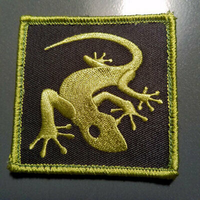 "Gecko Patch - 2.5"" x 2.5"" custom embroidered with Hook & Loop backing"