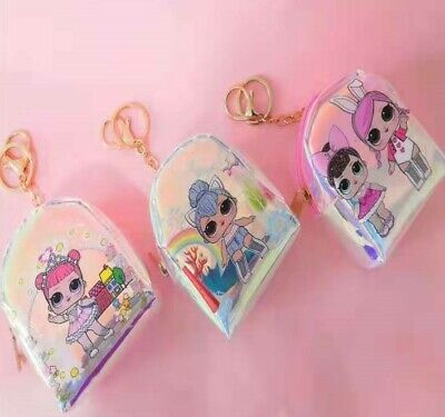 Lol Surprise Keyring Coin Purse Birthday Party Wallet Purse Lolly Loot Bag
