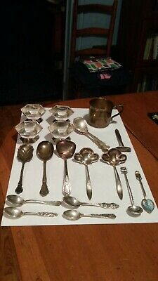 (376 Grams) Scrap Sterling Silver & 11.6 Grams 800 Silver...16 Grams 900 Silver