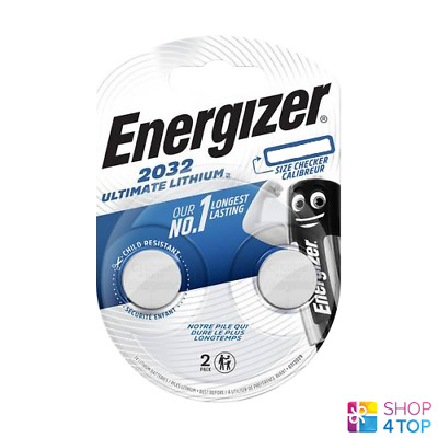 2 Energizer Cr2032 Ultimate Lithium Batteries 3V Coin Cell Dl2032 Exp 2025 New