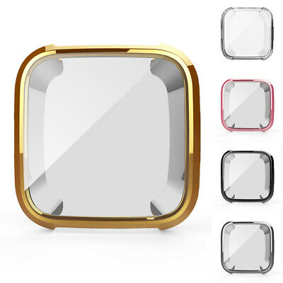 2Pcs TPU Protective Cover Bumper Case Protector for Fitbit Versa Smart Watch Wid