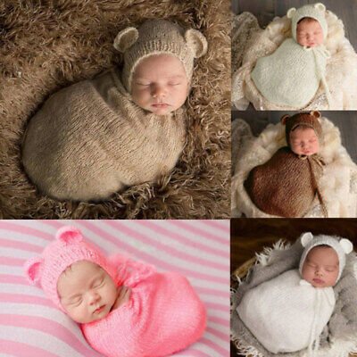 Pro Newborn Photography Props Infant Costume Outfit Baby Knit Mohair Photo ZXN