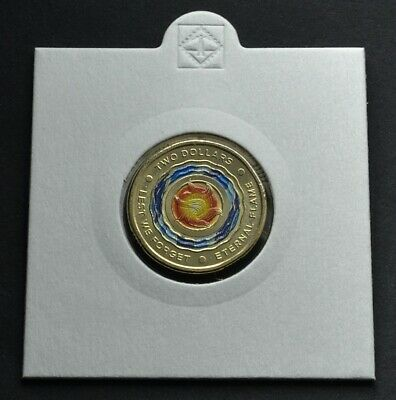 2018 $2 2 Dollar ETERNAL FLAME Lest We Forget - UNC From mint bag