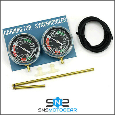 Carb Carburettor Motorcycle Motorbike Vacuum Gauge Calibration Kit 2 Cylinder