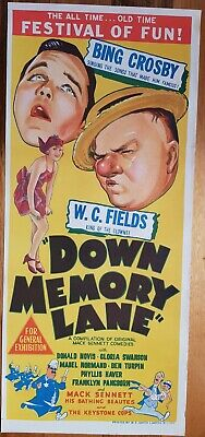 Down Memory Lane original daybill movie poster. WC Fields Bing Crosby.