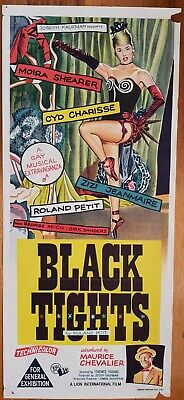 Black Tights original daybill movie poster Moira Shearer (from The Red Shoes)