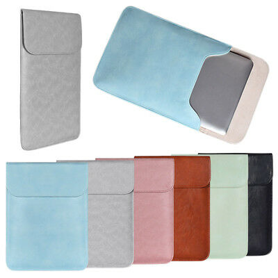 """AU Soft Laptop Bag Notebook PC Sleeve Case Cover for 11-15"""" Macbook Faux Leather"""