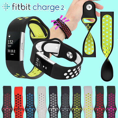 Soft Silicone Replacement Spare Sport Band Bracelet Strap for Fitbit Charge 2 .