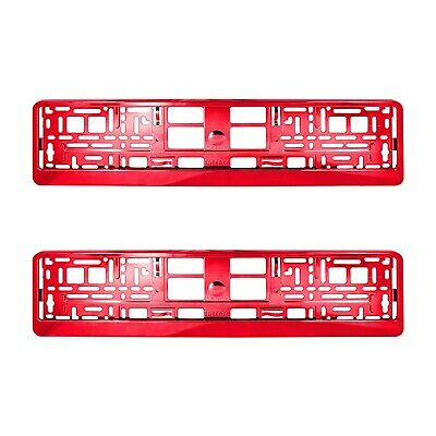 2 x RED Chrome Number Plate Holder Surround Car The Best Good For Car / Van M