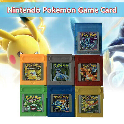 7 Pcs GBC Pokemon Game Card GameBoy Carts For Nintendo Color Version Cartridge