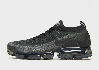 nike Vapormax flyknit 2 mens sneakers black new in box sizes 7.5 8 8.5 9.5 10 11