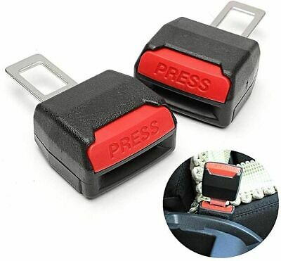 2x NEW SAFETY STOPPER CANCELLER CAR SEAT BELT CLIP EXTENDER SUPPORT BUCKLE UK