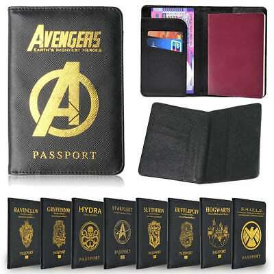 Passport Cover Harry Potter Holder Travel Case Wallet Blocking Credit Card Case