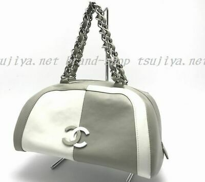 70e4be44e0c8 CHANEL CHAIN TOTE Bag By Color Bag Gray,Ivory Auth - $1,749.00 ...