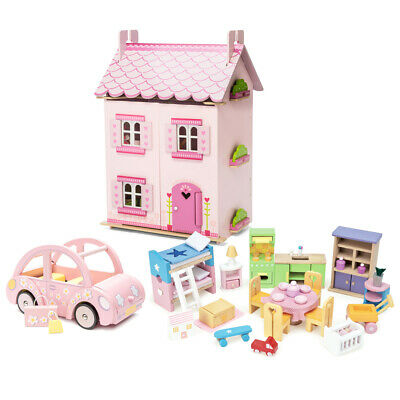 NEW Le Toy Van Daisy Lane My First Dream House w/Sophie's Car