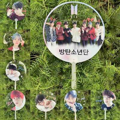 New BTS Summer Hand Fan Plastic Mini Fan Portable Fan V JIMIN SUGA JUNGKOOK RM