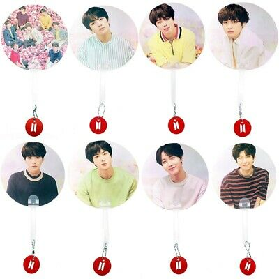 Fashion BTS Hand Fan Concert Support Fan Portable Mini Fan V JIMIN SUGA JUNGKOOK