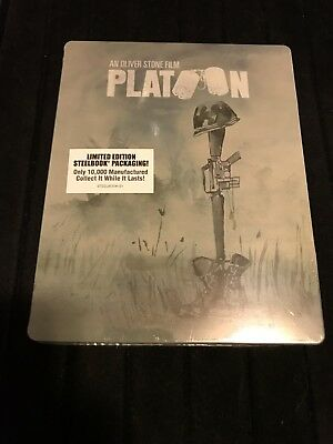 Platoon Steelbook  (1986, Blu-ray, Limited Edition) Factory Sealed