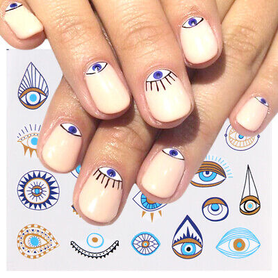 Eye Series Water Transfer Slider for Nail Art Decorations Charming Nail Sticker