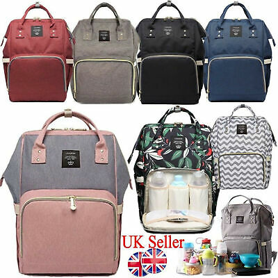 Mummy Bag Backpack Baby Diaper Nappy Backpack Multifunctional Mommy Changing UK