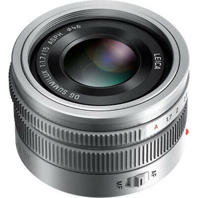 NEW Panasonic Lumix G Leica DG Summilux 15mm f/1.7 ASPH. Lens Silver UK DELIVERY