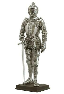 Medieval Armor-Sword In Right Hand(Silver) Sculpture