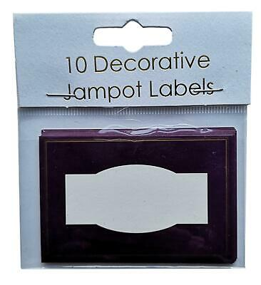10 Purple Self-Adhesive Jam Pot Labels