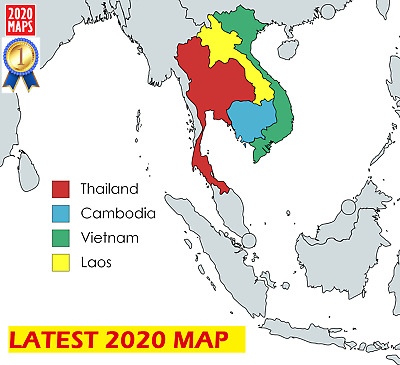 Latest Thailand, Vietnam, Laos & Cambodia Map 2019 for Garmin GPSs