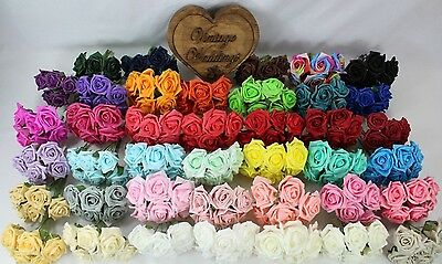 24 Bunches 5.5cm Colourfast Flowers Foam Roses 144 Flowers Wedding Craft Display