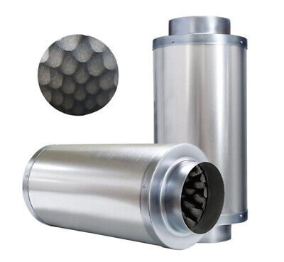 """Hydroponics Indoor Inline Duct Extractor Fan Silencer Low Noise 4"""" 6"""" 8"""" 10"""" 12"""""""