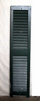 """12""""x53"""" Antique Vintage Old SOLID Wood Wooden Window House Shutter Louver Door"""