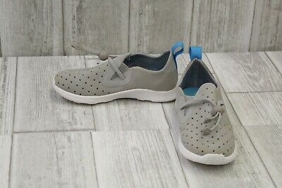 Native Kid/'s Shoes Perforated Apollo Moc XL in Darknite Grey FREE Shipping