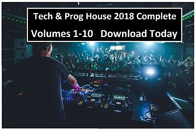 Tech House & Prog DJ Collection - 2018 Complete Year - DOWNLOAD TODAY - 30GB MP3
