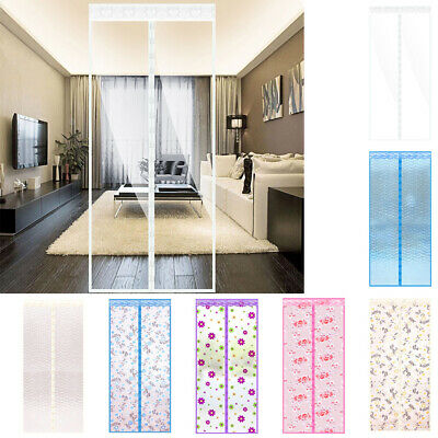 Summer Hands-Free Magnetic Door Fly Screen Magic Anti Mosquito Bug Mesh Curtain