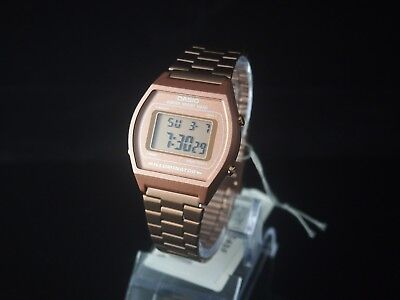 CASIO Rose Gold Digital Stainless Steel Watch B640WC-5 100% Original NIB