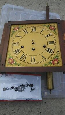 Enfield Grandfather Grandmother Clock Parts Movement Dial chime block etc