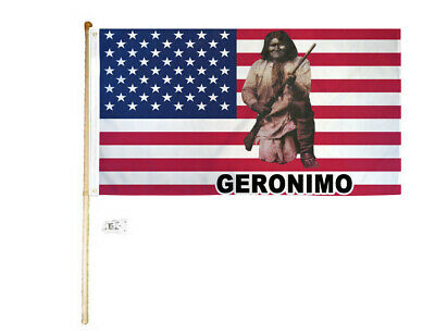 Usa Geronimo 3x5 Polyester Flag Rifle United States