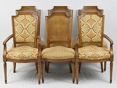Magnificent Set Of 6 Baker Furniture Cane Back Dining Chairs With Ncnpc Chair Design For Home Ncnpcorg