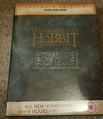 DVD The Hobbit The Desolation of Smaug Extended Edition 5 Disc New Damaged